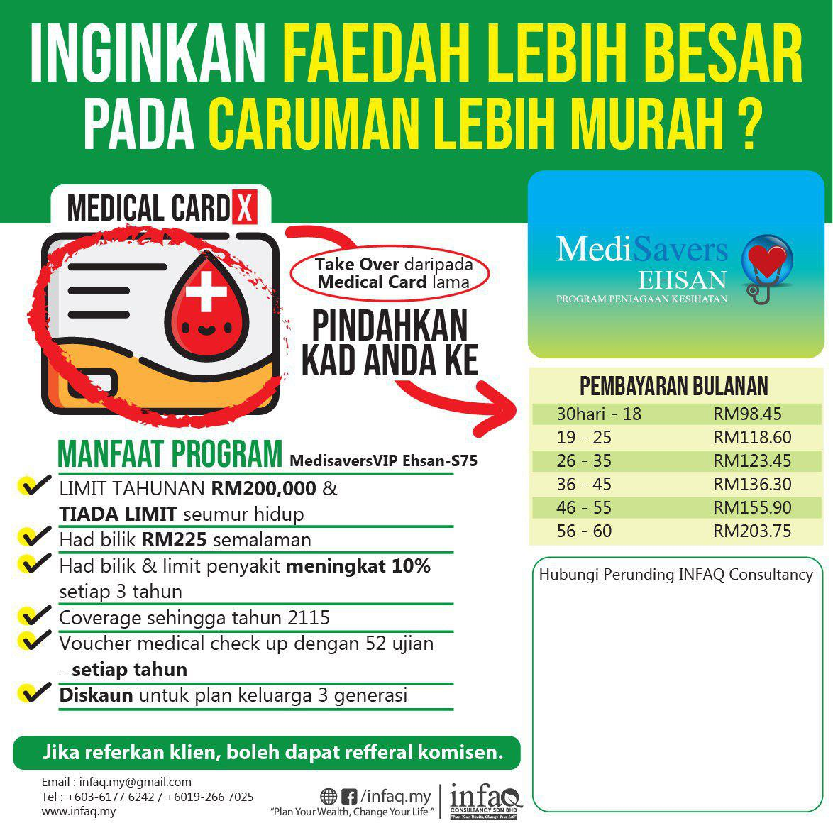 Medisaver Takaful Ehsan – Take Over Medical Card lama