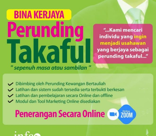 Agen Takaful Kerjaya bersama INFAQ Consultancy