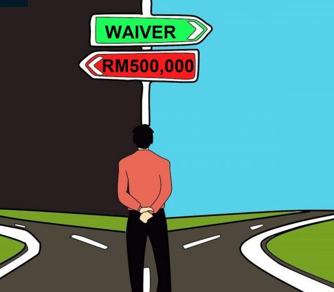 Waiver of contribution ATAU pampasan RM500,000, mana yang penting ?